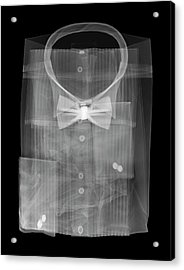 Dress Shirt And Bowtie Acrylic Print by Nick Veasey