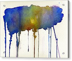 Acrylic Print featuring the painting Dripping Universe by Bee-Bee Deigner