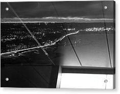 Driving At Night Acrylic Print by Tapio Koivula