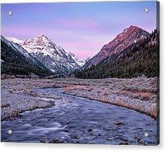 Dry Creek Acrylic Print by Leland D Howard