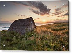 Acrylic Print featuring the photograph Drying Hut - Freshwater West by Elliott Coleman