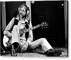Duane Allman At Muscle Shoals Acrylic Print by Michael Ochs Archives