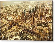 Dubai Skyline With Downtown Aerial View Acrylic Print by Franckreporter