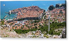 Dubrovnik Panorama From The Hill Acrylic Print