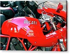 Ducati Reflections In Rome Acrylic Print