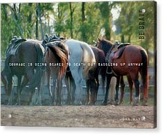 Dude Ranch Quote Acrylic Print by JAMART Photography