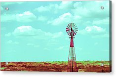 Dueling Tones Windmill Acrylic Print