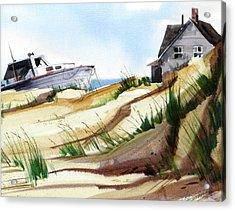 Dune Docked Acrylic Print by Art Scholz