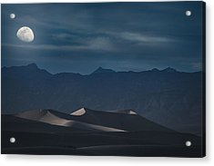 Dunes Of The Death Valley Acrylic Print