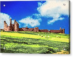 Dunstanburgh Castle In Oil Acrylic Print
