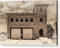 Acrylic Print featuring the photograph Duran Fire Dept by Lou Novick