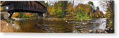 Acrylic Print featuring the photograph Durgin Covered Bridge - North Sandwich, Nh by Joann Vitali