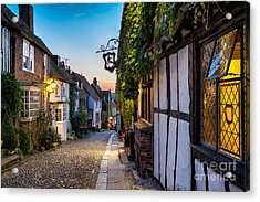 Dusk At A Row Of Beautiful Old Houses Acrylic Print