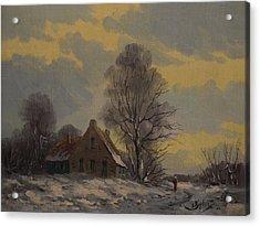 Dutch Snow Landscape Acrylic Print