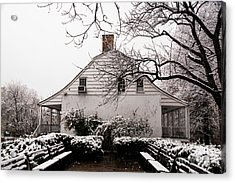 Acrylic Print featuring the photograph Dyckman Farmhouse In Winter by Cole Thompson