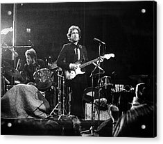 Dylan & Helm At Madison Square Garden Acrylic Print by Fred W. McDarrah