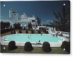 Earl Levys Castle Acrylic Print by Slim Aarons