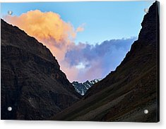 Acrylic Print featuring the photograph Early Morning Clouds In Sarchu by Whitney Goodey