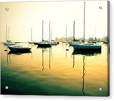 Early Mornings At The Harbour Acrylic Print