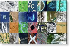 Earth Alphabet From Space Acrylic Print