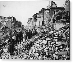 Earthquake Rubble Acrylic Print by Hulton Archive