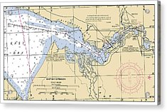 East Bay Extension Noaa Chart 11385_5 Acrylic Print
