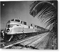 East Coast Train Acrylic Print by R. Gates