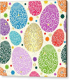 Easter Seamless Pattern With Colorful Acrylic Print
