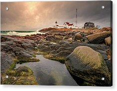 Eastern Point Lighthouse At Sunset Acrylic Print