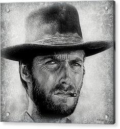Eastwood Portrait Edit Acrylic Print