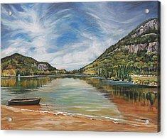 Echo Lake In Franconia Notch New Hampshire Acrylic Print