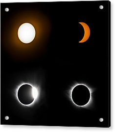 Eclipse Phases Acrylic Print by Christine Buckley