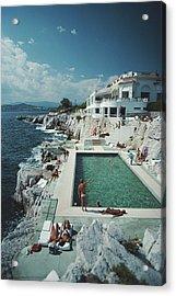 Eden-roc Pool Acrylic Print by Slim Aarons