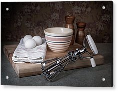 Eggbeater And Eggs Still Life Acrylic Print