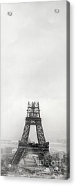 Eiffel Tower Being Built, Paris, 14th October And 14th November 1888 Acrylic Print