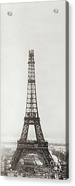 Eiffel Tower, Paris, 12th February And 12th March 1889 Acrylic Print