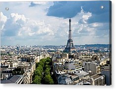 Eiffel Tower View From Arc De Triomphe Acrylic Print by Keith Sherwood