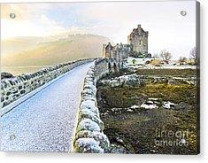 Eilean Donan Castle In Winter Acrylic Print