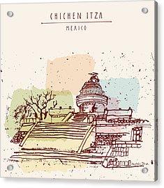 El Caracol Or The Observatory Toltec Acrylic Print