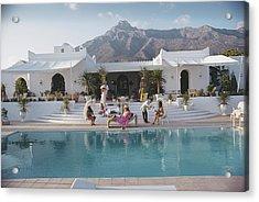 El Venero Acrylic Print by Slim Aarons