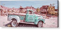 Eldorado Ghost Town Searchlight Nevada Pano Acrylic Print