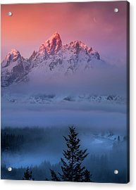 Acrylic Print featuring the photograph Electic Sunrise / Grand Teton National Park  by Nicholas Parker