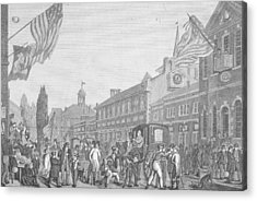 Election In Front Of State House, Pa Acrylic Print by Kean Collection