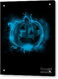 Electric Pumpkin Acrylic Print