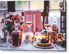 Acrylic Print featuring the photograph Elegant Tablewear by Top Wallpapers