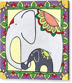 Elephant And Child 6 Acrylic Print