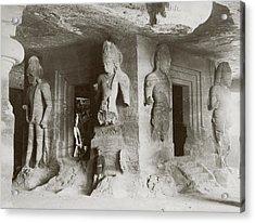 Elephanta Caves Acrylic Print by Hulton Archive