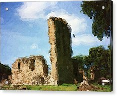 Elgin Cathedral Ruins Painting Acrylic Print