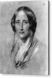 Elizabeth Gaskell Acrylic Print by Hulton Archive