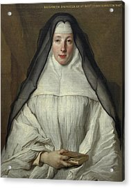 Elizabeth Throckmorton, Canoness Of The Order Of The Dames Augustines Anglaises, 1729 Acrylic Print